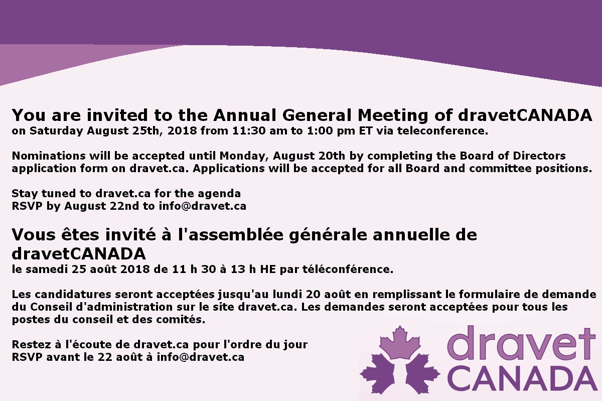 Dravet Canada - 2018 Annual Meeting
